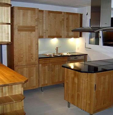 Arbos gesund wohnen, Küche aus Massivholz - Kirschbaum, Kueche mit ...