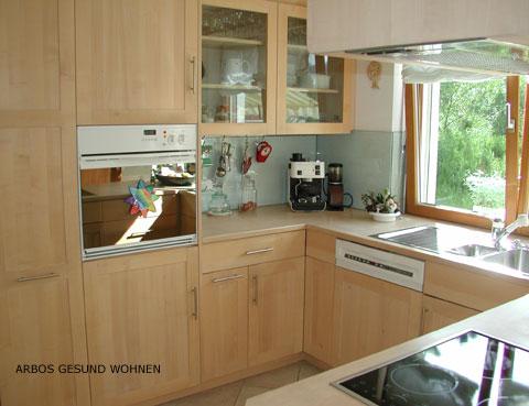 Arbos gesund wohnen kuche aus massivholz ahorn for Küche ahorn
